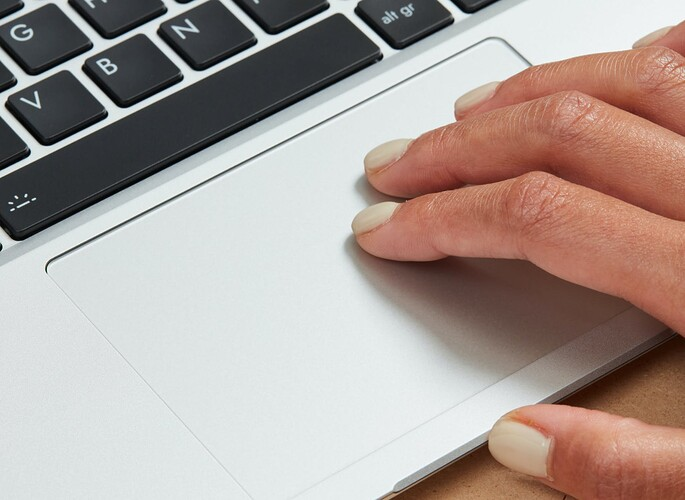 Touchpad with hand